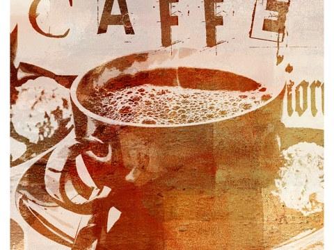 koffiekopje caffe vierkant bruin