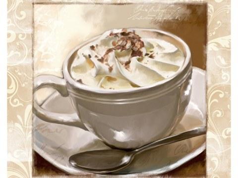 koffiemok met slagroom vierkant wit