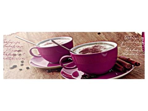 koffiekopjes met letters horizontaal paars