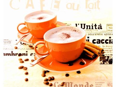 koffiekopjes rood vierkant