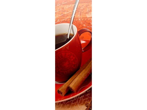 koffiemok met kaneel smal rood