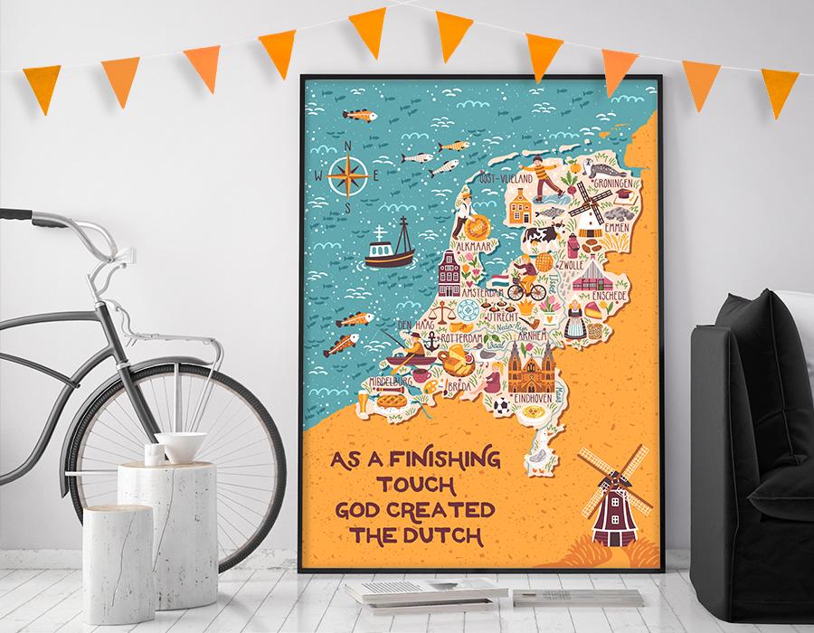 Ontdek Koningsdag posters met Nederlandse designs