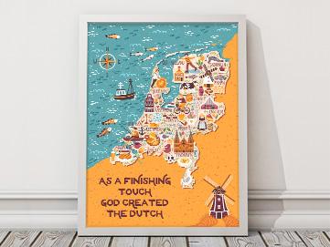 Koningsdag poster van myposter