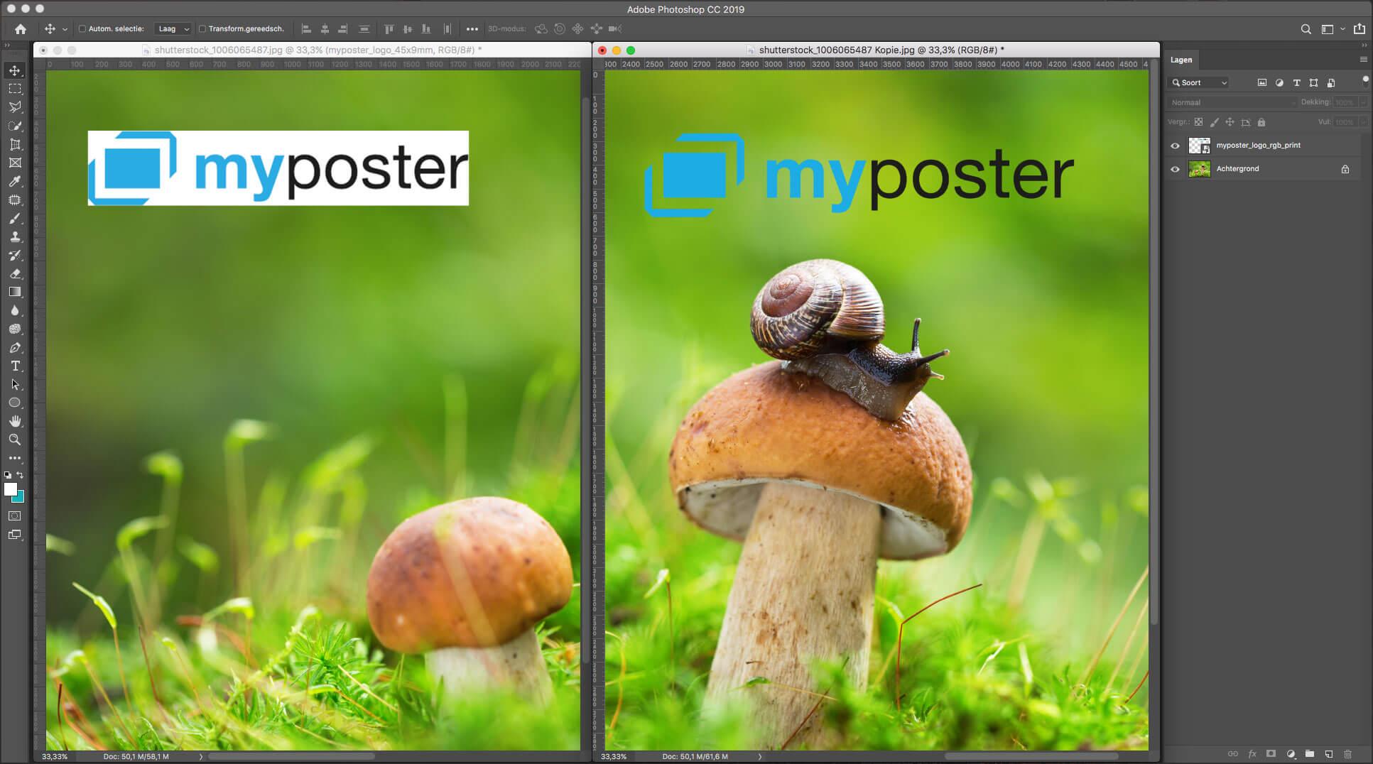 Watermerk in foto zetten met Photoshop