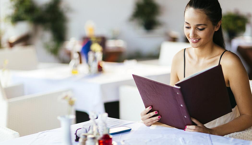 Gratis menukaart download vrouw