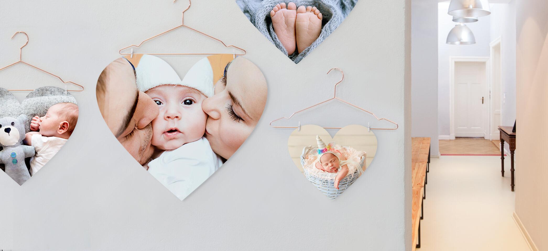 babykamer decoratie foto in hartvorm