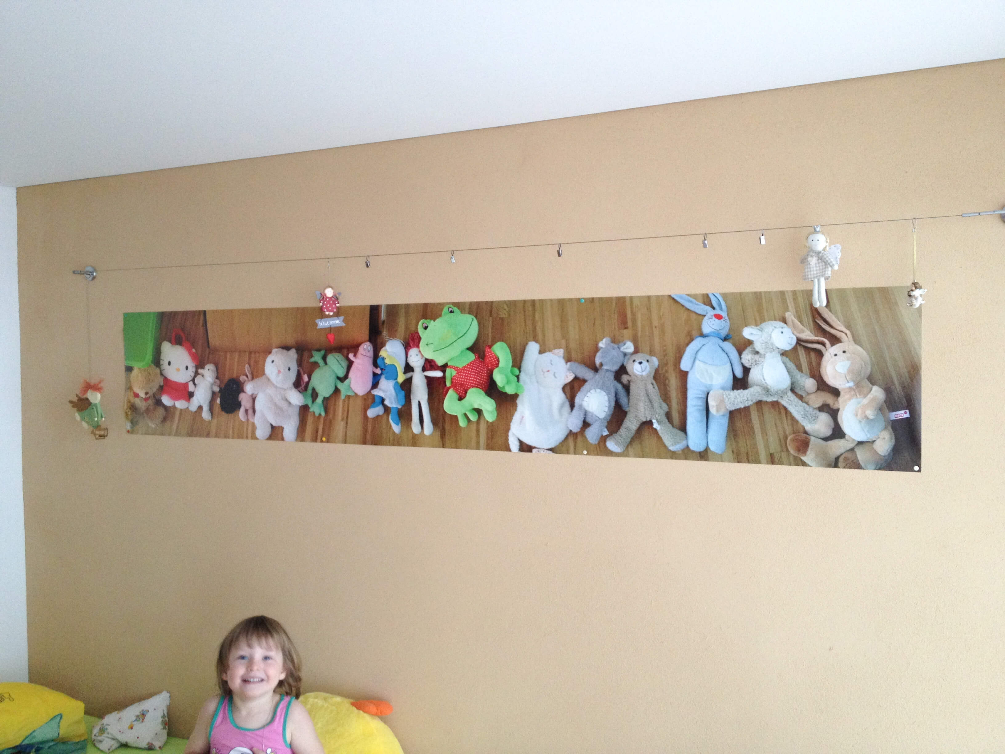 babykamer decoratie met panorama foto