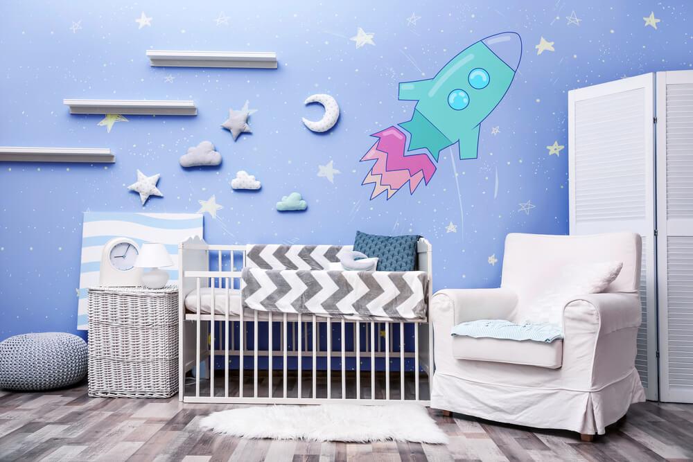 babykamer decoratie met sterren