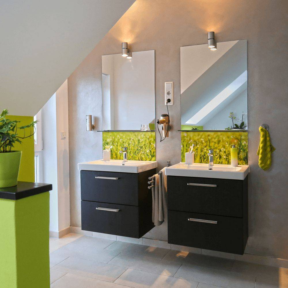 Badkamer ideeen acryl groen