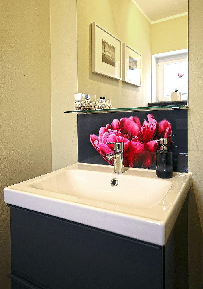 Badkamer ideeen acryl spatwand