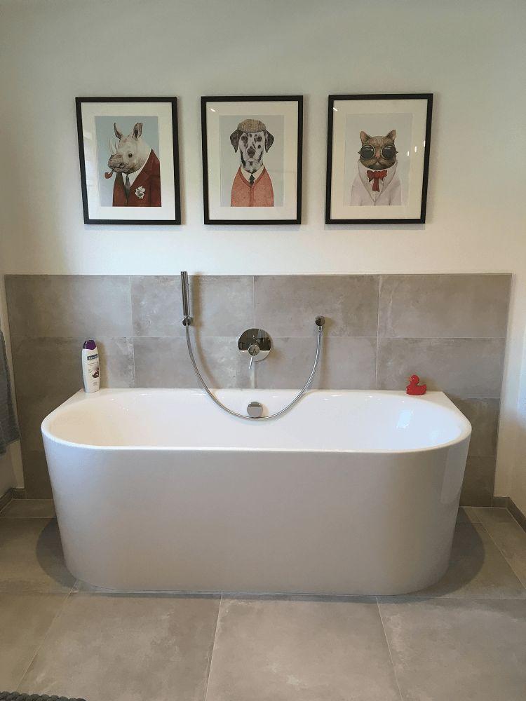 Badkamer ideeen dieren boven bad