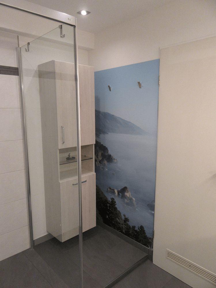Badkamer ideeen muur foto