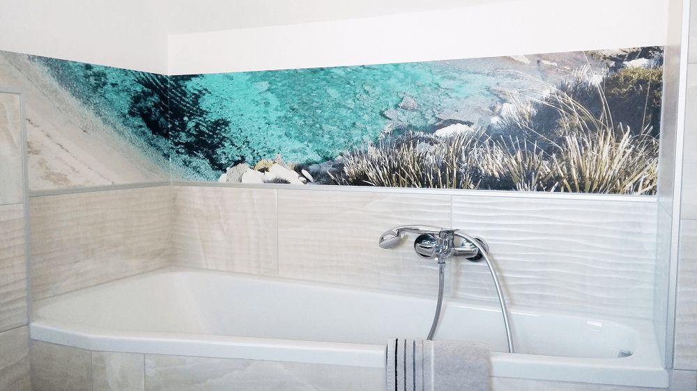 Badkamer ideeen panorama boven bad